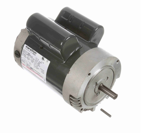 G254A Marathon 1 hp 3600 RPM 56C Frame ODP (no base) 115/230V Marathon Electric Motor