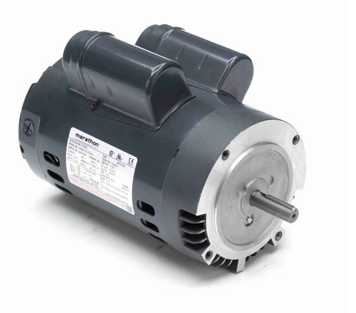 G256A Marathon 1 hp 1800 RPM 56C Frame ODP (no base) 115/230V Marathon Electric Motor