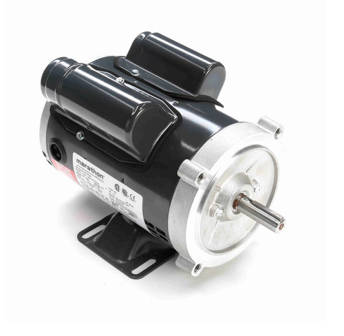 E252A Marathon 1/3 hp 1800 RPM 56C Frame ODP (with base) 100-120/200-240V Marathon Electric Motor