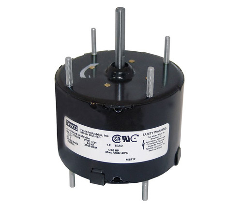 "Fasco D402 Motor | 1/60 hp 3000 RPM CW 3.3"" Diameter 115 Volts"