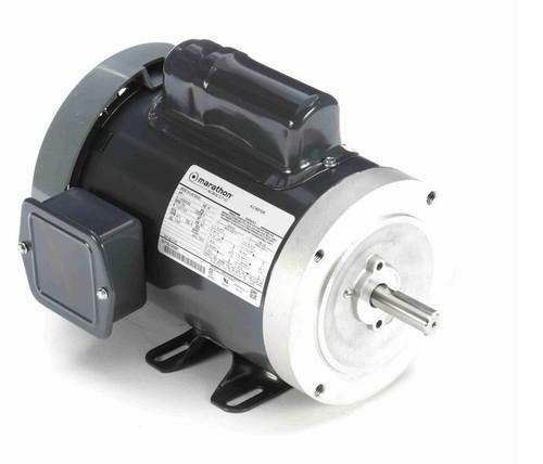 C376 Marathon 1 hp 1800 RPM 56C Frame TEFC 115/208-230V Marathon Electric Motor