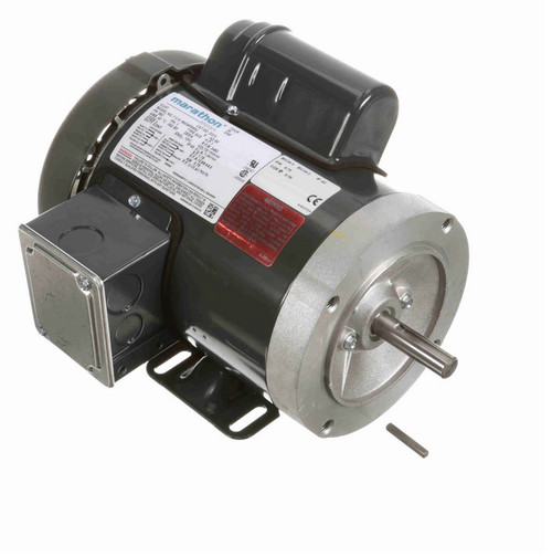 D313 Marathon 1 hp 3600 RPM 56C Frame TEFC 115/208-230V Marathon Electric Motor
