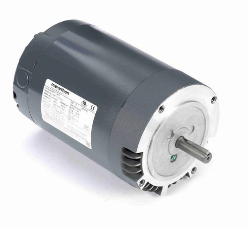 1/2 hp 1200 RPM 3-Phase  56C Frame ODP (no base) 230/460V Marathon Motor # K1299A