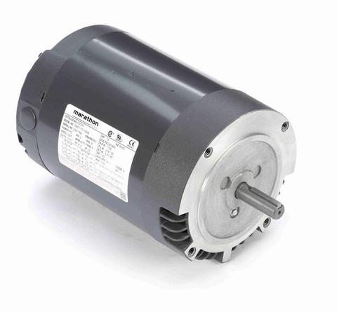 3/4 hp 1800 RPM 3-Phase  56C Frame ODP (no base) 230/460V Marathon Motor # K250A