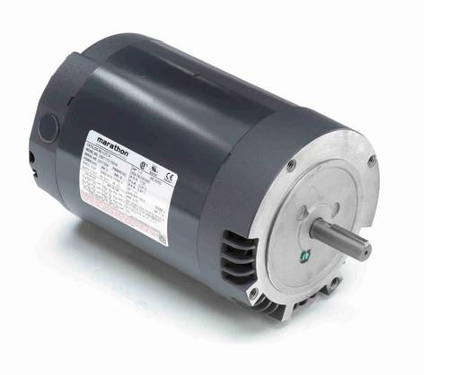 K251A Marathon 1 hp 1800 RPM 56C Frame ODP (with base) 115/230V Marathon Electric Motor