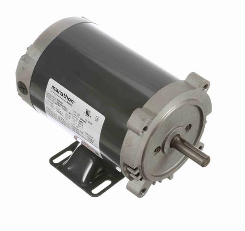 K1306A Marathon 1/2 hp 3600 RPM 3-Phase  56C Frame ODP (w base) 230/460V Marathon Motor