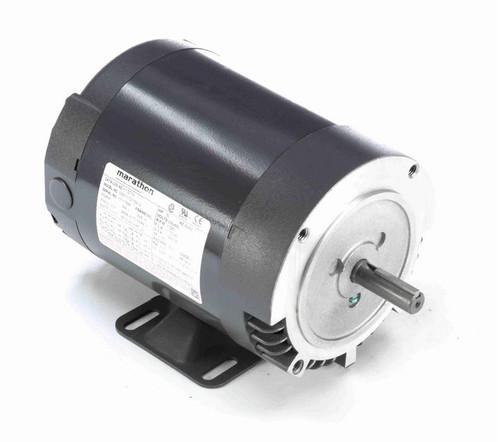 K1307A Marathon 1/2 hp 1800 RPM 3-Phase  56C Frame ODP (w base) 230/460V Marathon Motor