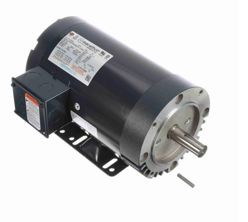 K2022A Marathon 1 1/2 hp 1800 RPM 3-Phase 145TC Frame ODP (w base) 230/460V Marathon Motor