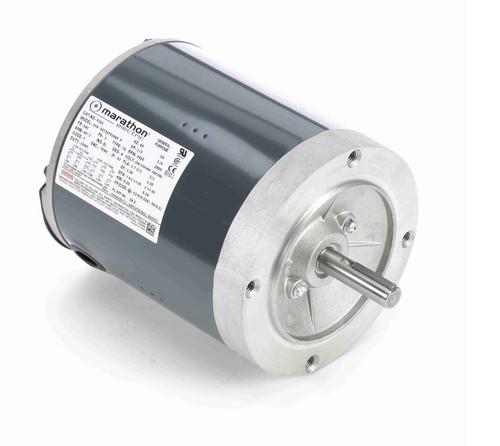 P101 Marathon 1/3 hp 3600 RPM 3-Phase  56C Frame TENV (no base) 208-230/460V Marathon Electric Motor