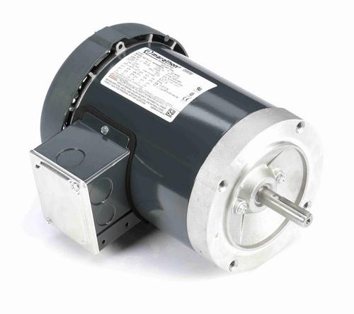 P102 Marathon 1/2 hp 3600 RPM 3-Phase  56C Frame TEFC (no base) 208-230/460V Marathon Electric Motor