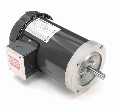 P105A Marathon 1 1/2 hp 3600 RPM 3-Phase 56C Frame TEFC (no base) 230/460V Marathon Motor