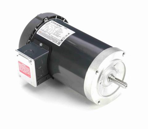 P106A Marathon 2 hp 3600 RPM 3-Phase 56C Frame TEFC (no base) 230/460V Marathon Motor