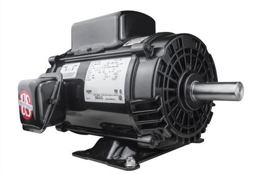 5 hp 1800 RPM 184T Frame ODP 230V Nidec Compressor Motor # D5C2K