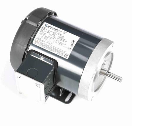 G586 Marathon 1/4 hp 1200 RPM 3-Phase  56C Frame TENV (base) 208-230/460V Marathon Motor