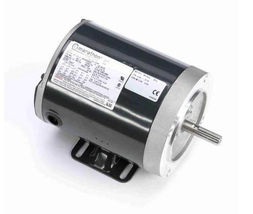 D390 Marathon 1/3 hp 3600 RPM 3-Phase  56C Frame TENV (base) 208-230/460V Marathon Motor