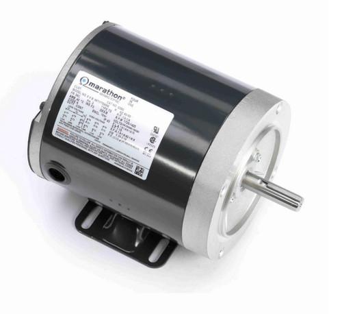 G580 Marathon 1/3 hp 1800 RPM 3-Phase  56C Frame TENV (base) 208-230/460V Marathon Motor