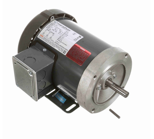 3/4 hp 3600 RPM 3-Phase  56C Frame TEFC (base) 575V Marathon Motor # K706