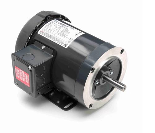 K500A Marathon 1 hp 3600 RPM 3-Phase  56C Frame TEFC (base) 230/460V Marathon Motor