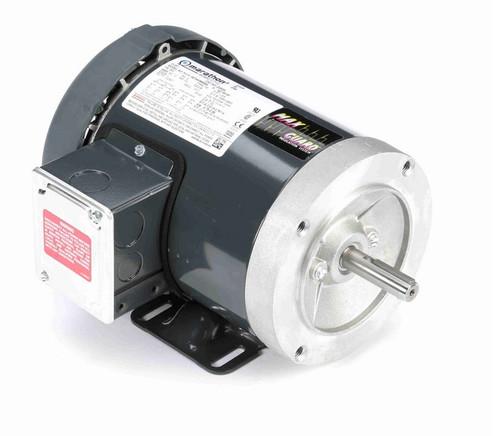 D393A Marathon 1 hp 3600 RPM 3-Phase  56C Frame TEFC (base) 230/460V Marathon Motor