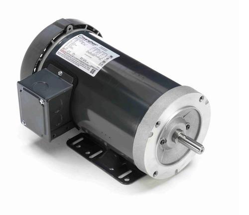 1 hp 1200 RPM 3-Phase  56C Frame TEFC (base) 208-230/460V Marathon Motor # K701A