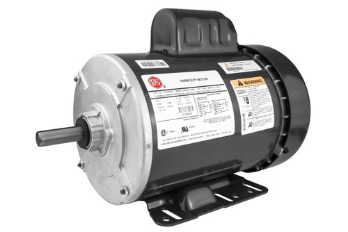 1 hp 1800 RPM 56H Frame TEFC (Farm Duty) 115/230V Nidec Electric Motor # FD1CM2PZ