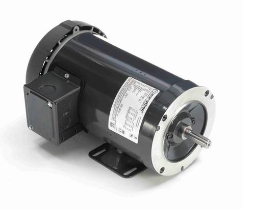 G564A Marathon 1-1/2 hp 1800 RPM 3-Phase  56C Frame TEFC (base) 208-230/460V Marathon Motor