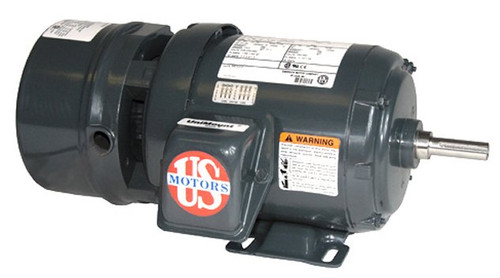 3/4 hp 1800 RPM 56 Frame 208-230/460V TEFC Nidec Electric Brake Motor # BMU34S2A