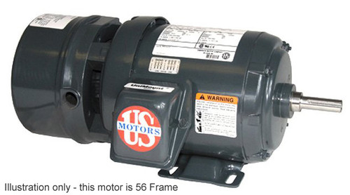 1 hp 1800 RPM 143T Frame 208-230/460V TEFC Nidec Electric Brake Motor # BMU1S2A
