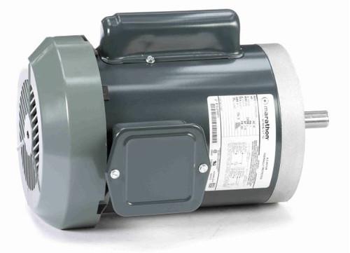 C351 Marathon 1 hp 3600 RPM 56C Frame TEFC C-Face (no base) 115/230V Marathon Electric Motor