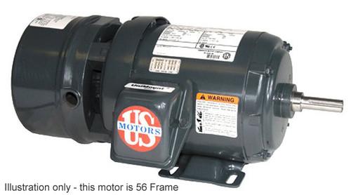 BMU5P2D Nidec | 5 hp 1800 RPM 184T Frame 208-230/460V TEFC Nidec Electric Brake Motor