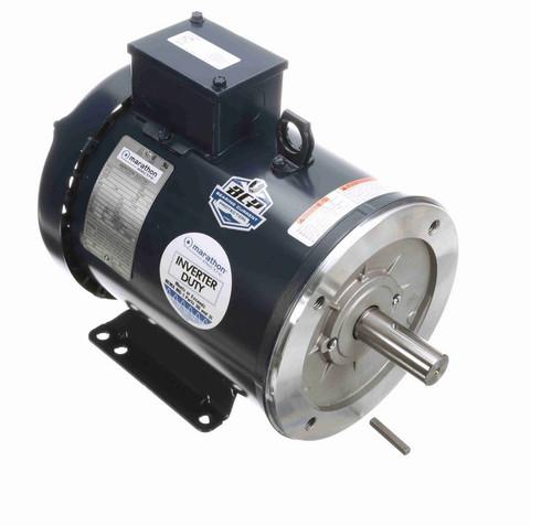 E2005 Marathon 1 1/2 hp 1200 RPM 3-Phase  182TC Frame TEFC (base) 230/460V Marathon Motor