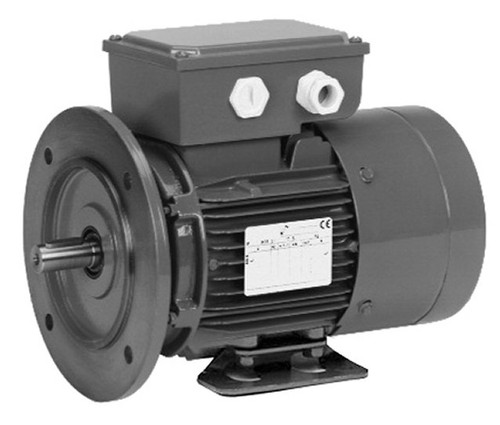 1/2 hp 1800 RPM 56C Frame 208-230/460V TEFC Nidec C-Face Electric Brake Motor # BR12S2AC3