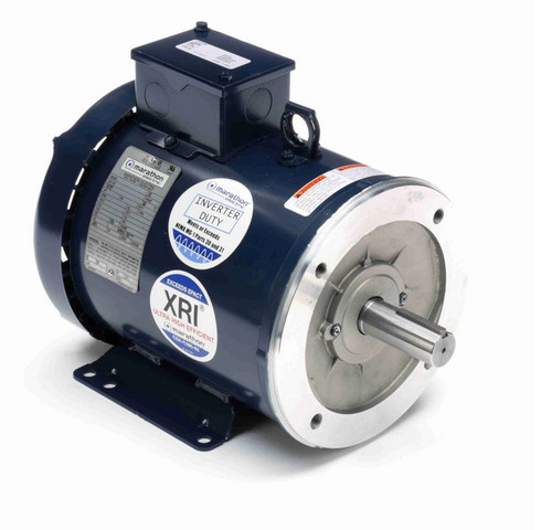 3 hp 1800 RPM 3-Phase 182TC Frame TEFC (base) 230/460V Marathon Motor # E2010