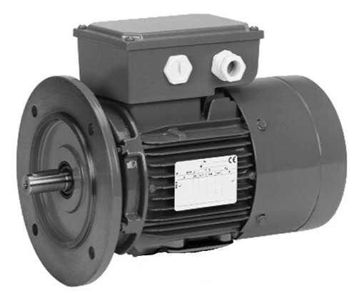 1/2 hp 1800 RPM 56C Frame 208-230/460V TEFC Nidec C-Face Electric Brake Motor # BR12S2ACR3