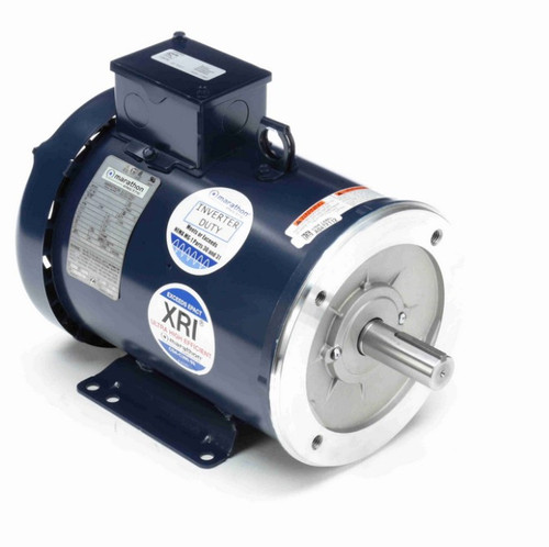5 hp 1800 RPM 3-Phase 184TC Frame TEFC (base) 230/460V Marathon Motor # E2013