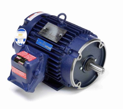 C364A Marathon 3 hp 1800 RPM 3-Phase 182TC Frame TEFC (rigid base) 230/460V Marathon Motor