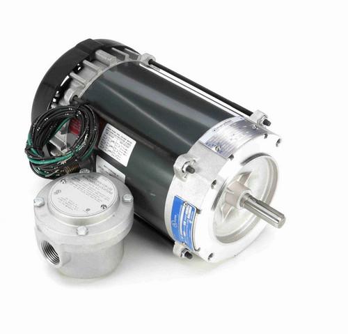 G840 Marathon 3/4 hp 1800 RPM 3-Phase  56C Frame TEFC (no base) 208-230/460V Marathon Motor