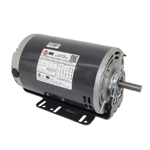 1 hp 1800 RPM 56H Frame 208-230/460V Open Drip Nidec Electric Motor # D1P2DH9