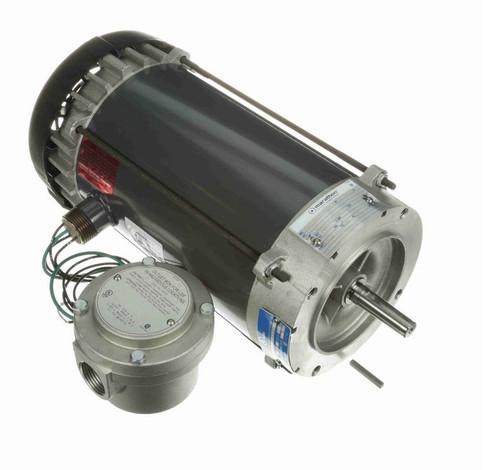 1 hp 1800 RPM 3-Phase  56C Frame TEFC (no base) 575V Marathon Motor # G846A