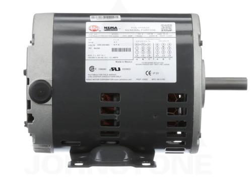 D14P2B4 Nidec | 1/4 hp 1800 RPM 48 Frame 208-230/460V Open Drip Nidec Electric Motor