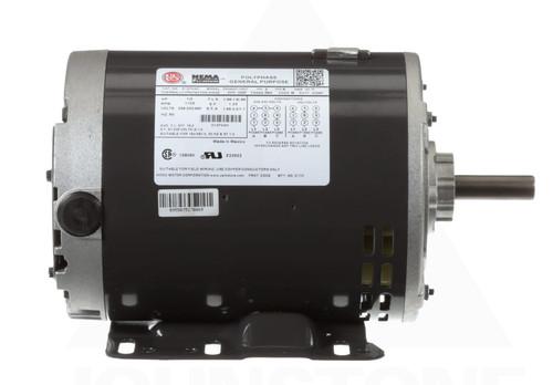 D12P2AH Nidec | 1/2 hp 1800 RPM 56H Frame 208-230/460V Open Drip Nidec Electric Motor