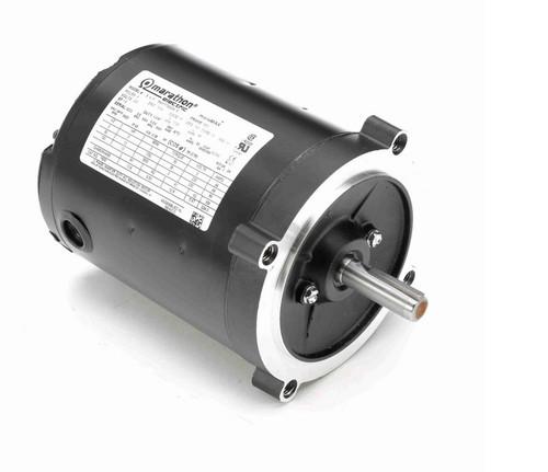 Y606 Marathon 1/8 hp 1800 RPM 3-Phase 56C Frame TENV (no base) 230V Marathon Motor