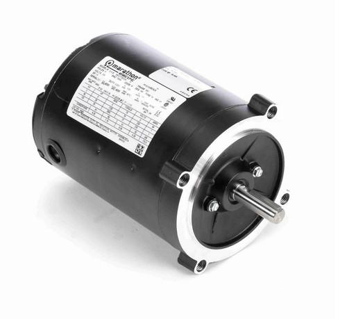 Y501 Marathon 1/4 hp 1800 RPM 3-Phase 56C Frame TENV (no base) 230V Marathon Motor
