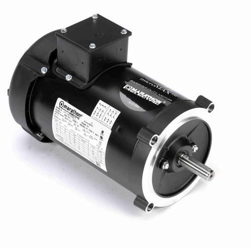 Y378 Marathon 1 hp 1800 RPM 3-Phase 56C Frame TEFC (no base) 230/460V Marathon Motor
