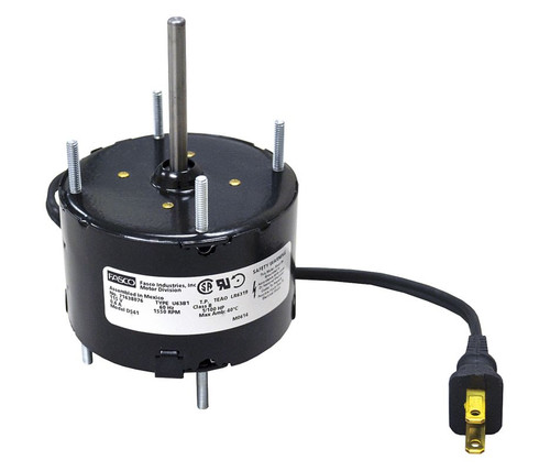 "Fasco D541 Motor | 1/100 hp 1550 RPM CCW 3.3"" diameter 115 Volts (nutone)"