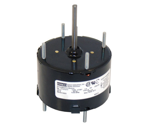 "Fasco D602 Motor | 1/50 hp 1500 RPM CW 3.3"" Diameter 115 Volts"
