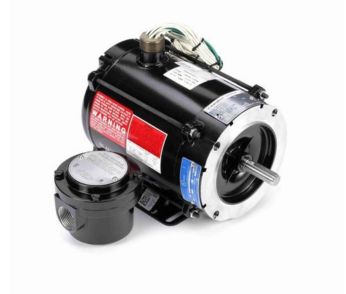 Y600 Marathon 1/4 hp 1800 RPM 3-Phase 56C Frame TENV (rigid base) 230/460V Marathon Motor