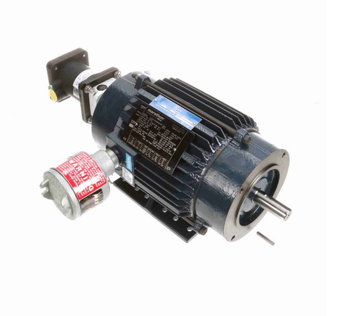 Y978 Marathon 1 hp 1800 RPM 3-Phase 143TC Frame TENV (rigid base) 230/460V Marathon Motor
