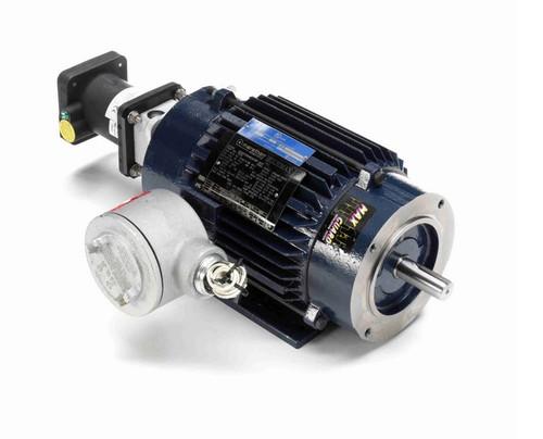 2 hp 1800 RPM 3-Phase 145TC Frame TENV (rigid base) 230/460V Marathon Motor # Y979