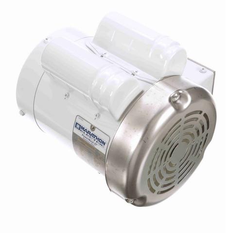N526 Marathon 1 hp 3600 RPM 1-Phase  56C Frame TEFC (no base) 115/208-230V Marathon Motor